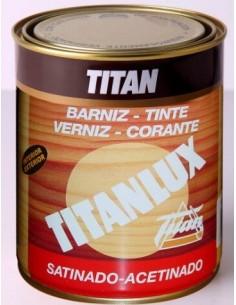 Barniz tinte Titan satinado Caoba 1004 de 125ml.