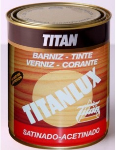 Barniz tinte Titan satinado Teca 1009 de 125ml.