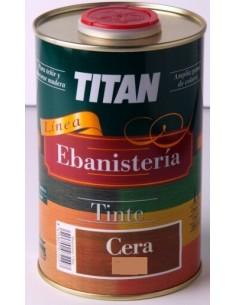 Ebanistería Tinte Cera Castaño Titan de 250ml.